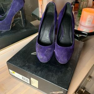 Brian Atwood Purple Snakeskin Pumps - Size 8